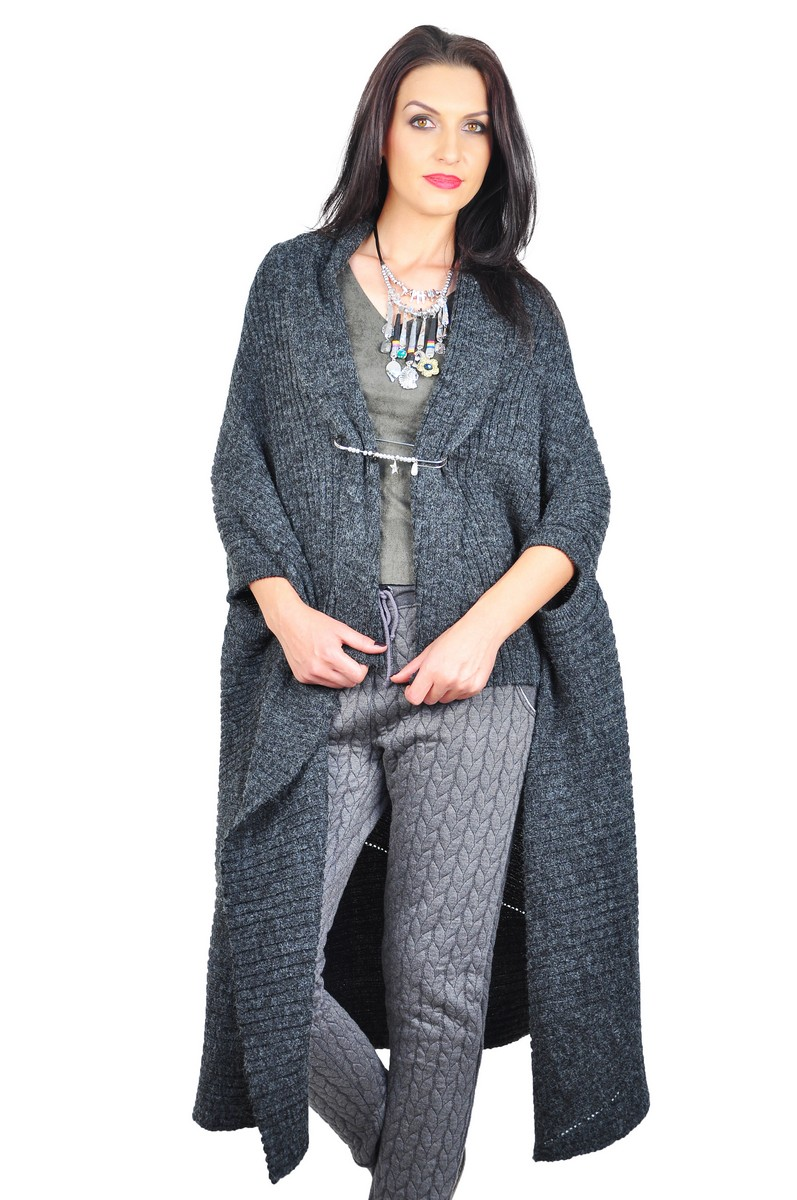 WOMEN    Tops    Cardigans    RVL dark grey cardigan 16b25803b85b