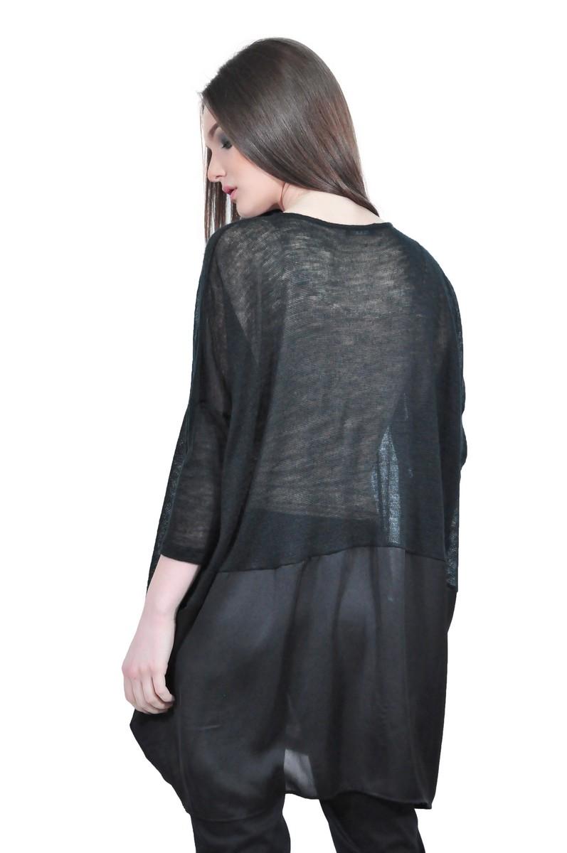 cardigan negru de dama RVL D2523 cardigan negru de dama RVL D2523 ... b0e07ebbccbe