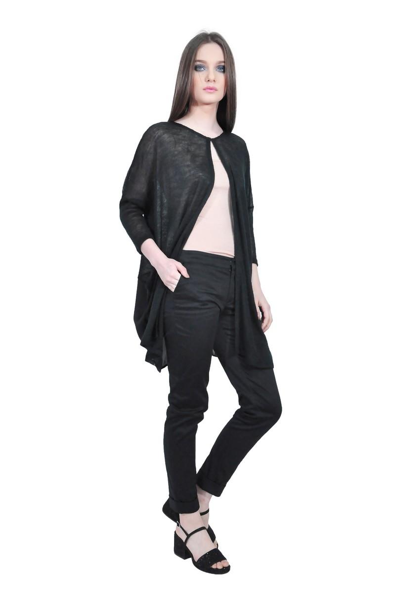 RVL black cardigan D2523 - women blouses - RVL online shop 0e778b6fe3a2