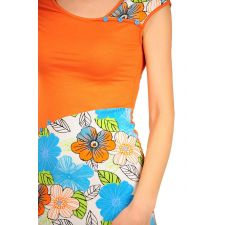 Rochie tricot cu flori