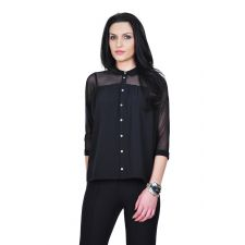 bluza neagra eleganta D2433