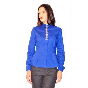 camasi dama cu maneca lunga D2232 albastru