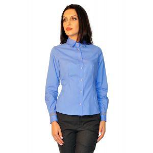 camasi dama cu maneca lunga D2223 bleu