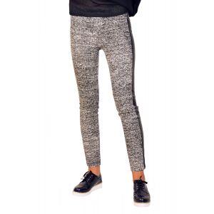 Pantaloni dama online alb negru WR04A