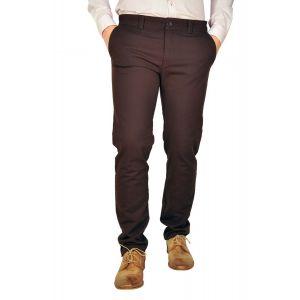Pantaloni barbati B2213 maro inchis