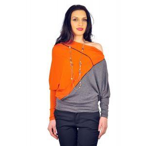 Bluze dama D2245 gri oranj