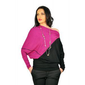 Bluze dama D2245 negru mov
