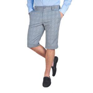 Pantaloni barbati 3/4 gri bleu