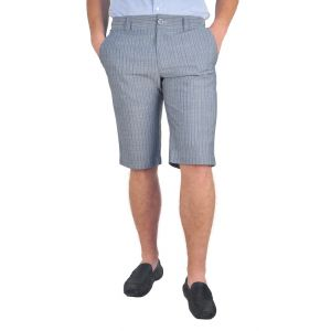 pantaloni barbati 3/4 gri dungi