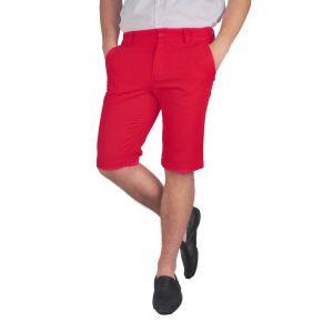 pantaloni barbati 3/4 rosu