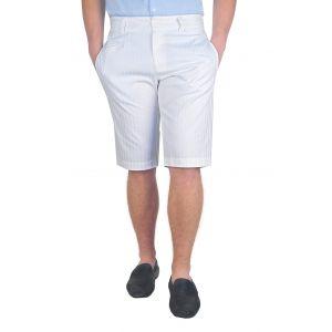 pantaloni barbati 3/4 alb