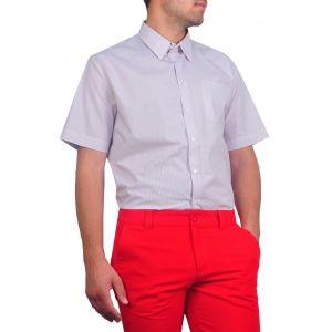camasi barbati maneca scurta alb maro