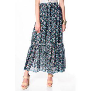 Long floral skirt