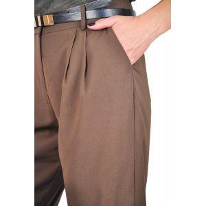 pantaloni office maro