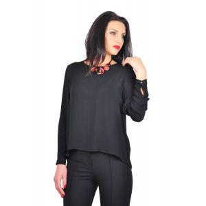 bluza eleganta neagra D2425A