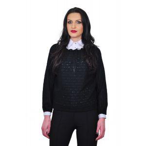 bluza neagra de dama D1645A