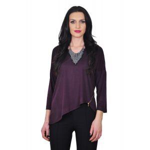 bluza eleganta din piele intoarsa D2244A