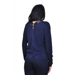 bluza bleumarin cu fir metalic D2407