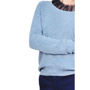 Bluza gri cu fir metalic