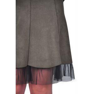 fusta dama kaki piele