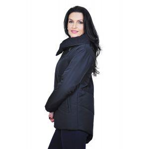 geaca neagra de dama D2429