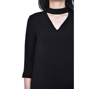 rochie neagra eleganta de dama RVL D2434