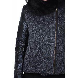 jacheta scurta de dama gri - RVLshop