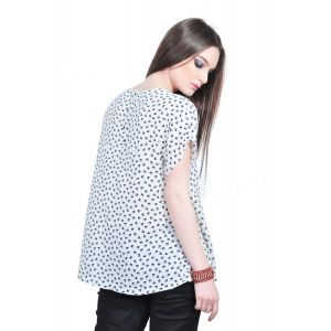 bluza dama alb pasari D2504