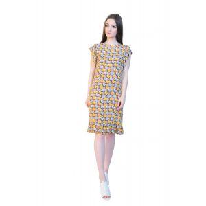 rochie imprimata cu volane RVL D2509