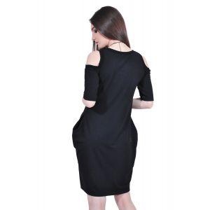rochie neagra de dama RVL D2518