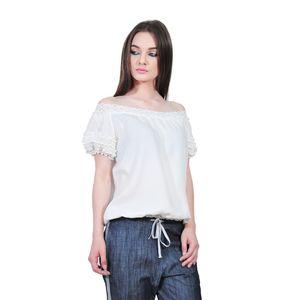 bluza alba de dama D2351A