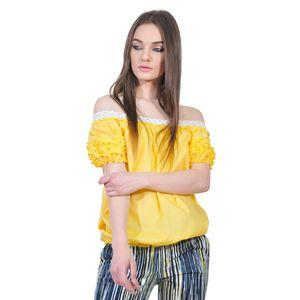 bluza galbena de dama D2351A