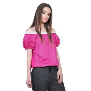 bluza roz de dama d2351A