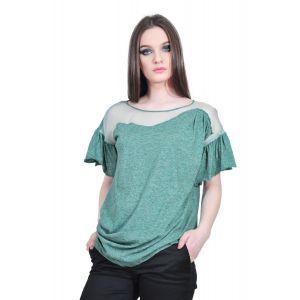 Bluza verde de dama cu maneca scurta, RVL D2533