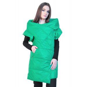 Vesta verde de dama cu maneca scurta D2534