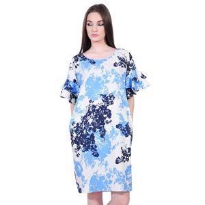 rochie eleganta de dama alb bleu D2552