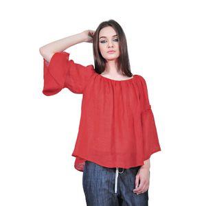 Bluza larga rosie de dama tip ie D2554