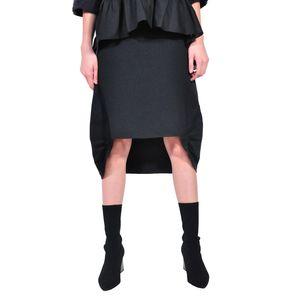 fusta asimetrica de dama, negru D2603