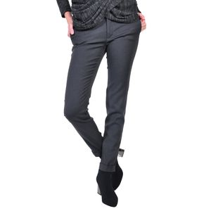pantalon de dama, gri inchis D2611