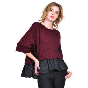 bluza de dama, grena, D2615