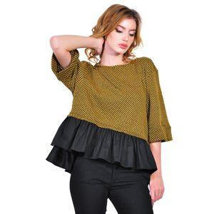bluza de dama mustar D2615