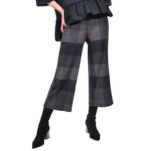 pantalon 3/4 de dama negru mov D2618