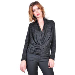 bluza de dama gri inchis D2620