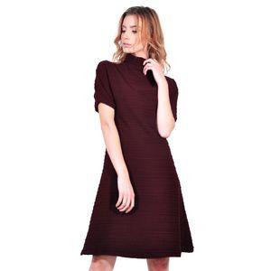 rochie de dama grena dungi D2623