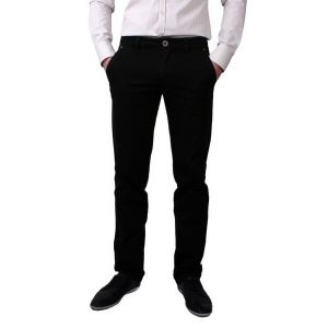 Pantaloni casual maron inchis