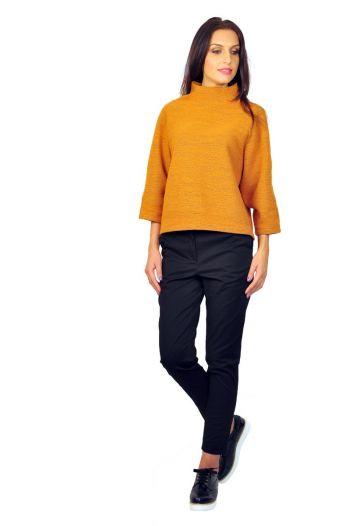 Pantaloni dama online D2200 negru