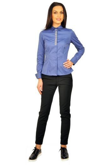 camasi dama cu maneca lunga D2232 bleu