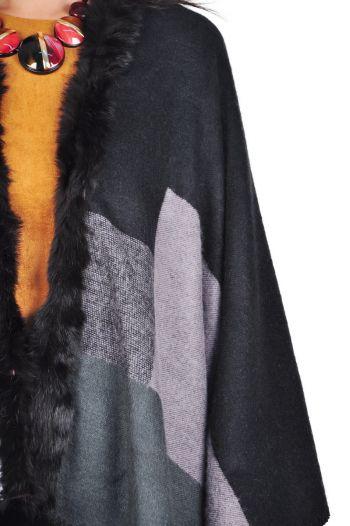 poncho negru