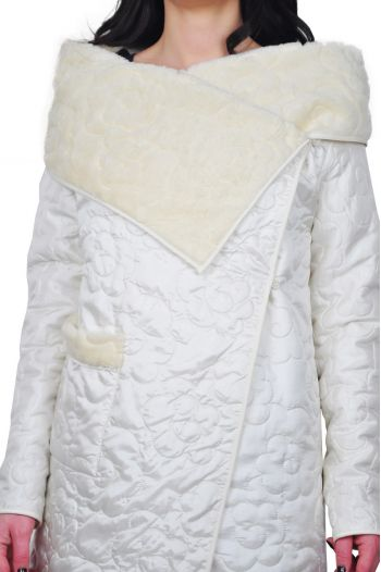 jacheta crem cu blanita de dama D2021C