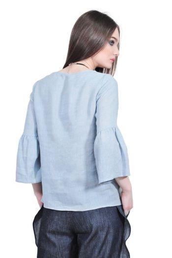 bluza dama bleu din in D2521 RVL